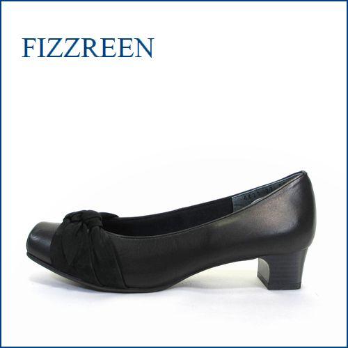fizz reen  フィズリーン fr4620bl ブラック 【かわいいリボン・・らくらくFIT・・優しく包む・・FIZZ REEN  上品パンプス】
