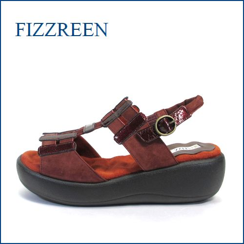 fizz reen フィズリーン fr1474wi エンジ 【フワフワなみなみの・・・ 新開発クッション・・FIZZREEN・・楽らくバルーンソール】