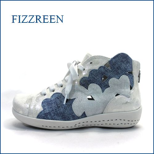 fizz reen フィズリーン fr1694wt  ホワイト 【ハートがいっぱい・・・ときめき 新鮮素材・・fizz reen ・・後ろファスナーアンクル】