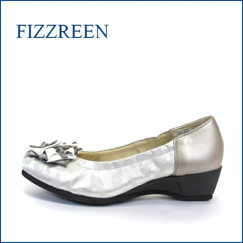 fizz reen フィズリーン fr2707gy ライトグレイ 【かわいい上品リボン・・楽らくFITの・・FIZZREEN・・2重クッション・パンプス】