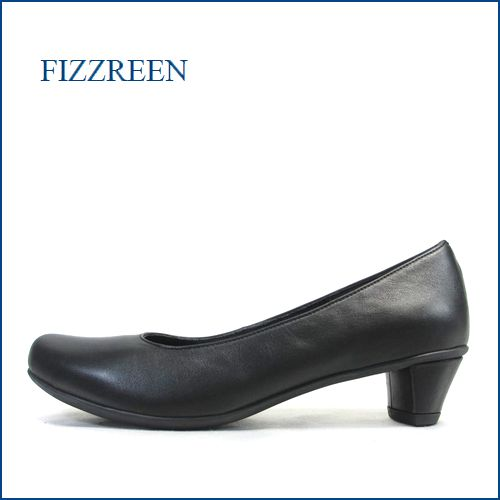 fizzreen  フィズリーン  fr2800bl  ブラック 【きれいなシルエット・・かわいいヒール・・ FIZZREEN クッションの良いパンプス 】