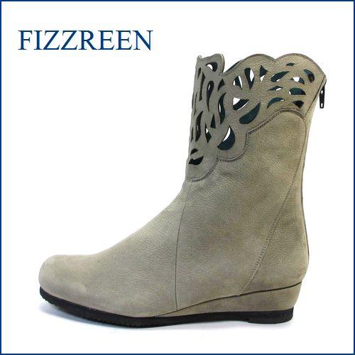 FIZZ REEN  フィズリーン fr2801gy  グレイ 【可愛さ 満点。。。新鮮・上品 おしゃれな・・・ fizzreen パンチドゥ・フラワー・ブーツ】