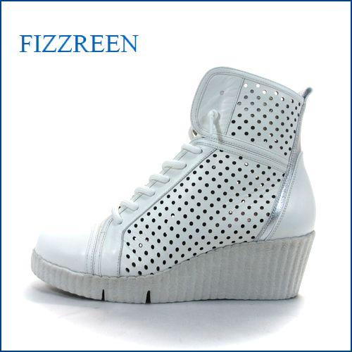 fizz reen  フィズリーン fr320wt ホワイト 【注目!新鮮パンプキンソール fizz reen ・足裏フワフワ感の・レースアップ】