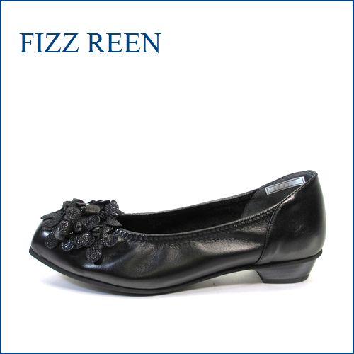 fizz reen フィズリーン fr3277bl ブラック 【かわいい小花が咲いている・・ ぴったり FIT の・・FIZZREEN 柔らかレザーパンプス】