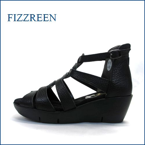 fizz reen フィズリーン fr3708bl  ブラック 【可愛い底まわり・・特殊なこぶこぶインソール・・fizzreen 楽々・ブーツサンダル】