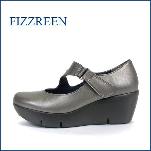 fizz reen フィズリーン fr3781ga GAブロンズ 【ぷっくりかわいい New 厚底ソール・・FIZZREEN・楽々・ストラップパンプス】