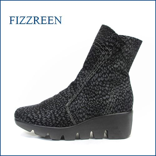 fizz reen フィズリーン fr5013hyo  黒ヒョウ 【オシャレ感覚アップの・・限定素材≪黒ヒョウ≫・・ FIZZREEN・・楽々なみなみソール・ブーツ】
