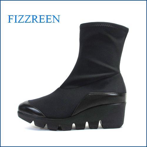 fizz reen フィズリーン fr5024bl  ブラック 【いつもの スニーカー感覚・・ぴったり足にフィットする・FIZZREEN のび~るストレッチブーツ】
