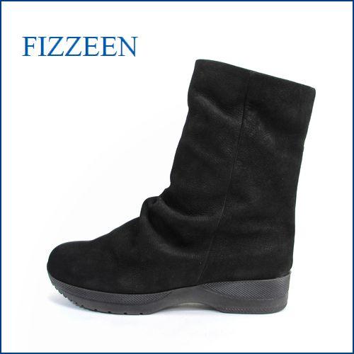 fizz reen フィズリーン fr5554bl  ブラック 【すぽっと履けて・・楽らく FIT・・ 可愛い丸さの・・ fizzreen 巾広・ショート】
