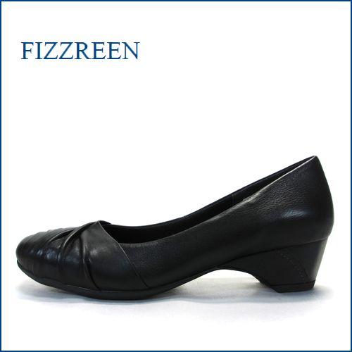 fizzreen  フィズリーン  fr9707bl  ブラック 【きちんと履ける柔らか仕立て・・楽にFITする クッション構造・・  fizzreen ・シンプルパンプス】