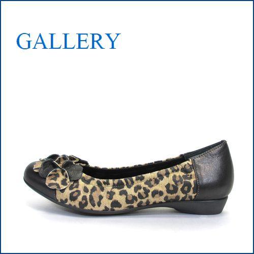 gallery  ギャラリー  ga2906hy  ヒョウ 【かわいいお花 リボン・・らくらくFIT・・優しく包む・・GALLERY  上品パンプス】