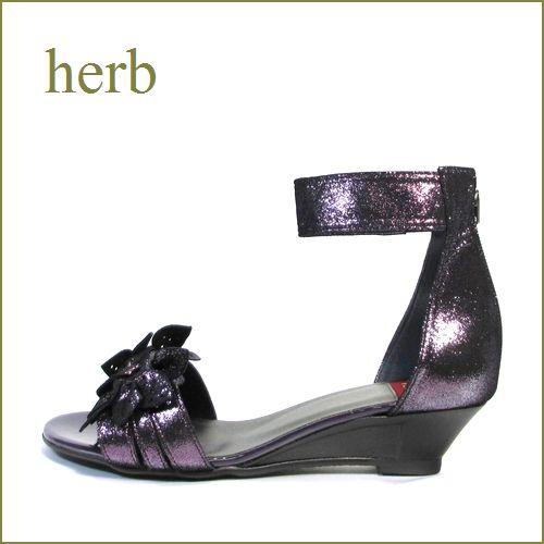 herb靴  ハーブ hb1830pl  パープル 【新鮮素材で・可愛さ100%・・・ちょうちょのお花・・herb靴・・ ウェッジ サンダル】