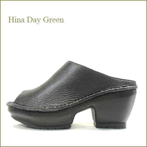hina day green ヒナデイグリン hi2028dn ダークブラウン 【かわいいボリュームソールができました。・快適ふんわりクッション・ HinaDayGreen 1枚革の厚底ミュール】