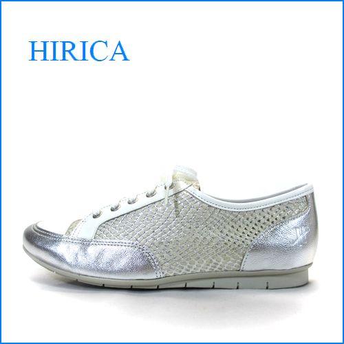 hirica ヒリカ hi31iv アイボリーコンビ 【新鮮・アイボリー&シルバー!!可愛いぴかぴか型押し・・・hirica・・軽いレースアップ・スタイル】