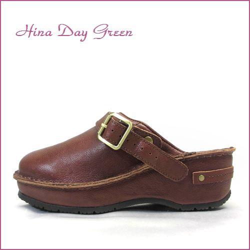 hina day green ヒナデイグリン hi6002br  ブラウン  【プックリ可愛い履き口パッド・安心のふんわりクッション・・ ヒナデイグリン サボ サンダル】