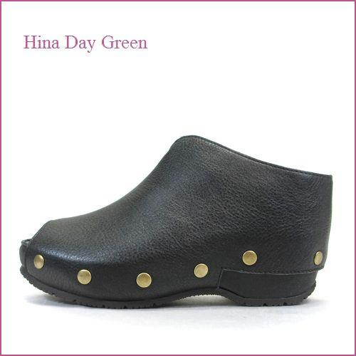 hina day green ヒナデイグリン hi6026bl ブラック 【スタッズがオシャレ・安心のふんわりクッション・ HinaDayGreen カカトの付いた 厚底サボ】