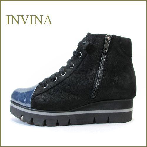 invina インビナ iv155bls ネイビーブラック 【肌触りの良いふわふわ感・・優しいソフトレザー・・invina・レースアップショート】