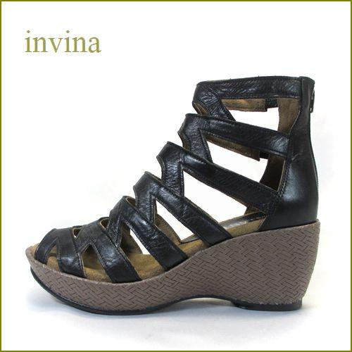 invina インビナ  iv4211bl  ブラック 【コロンと可愛い厚底ソール・・楽なふわふわクッション。invina ブーツサンダル】