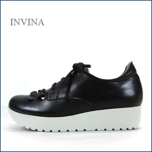 invina インビナ  iv4453bl  ブラック 【新鮮:可愛いお花のカット・・・リラックス効果のインソール。。invina 大人のスニーカースタイル】