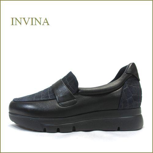 invina インビナ  iv50274nv ブラックネイビー 【おしゃれ濃紺ともっちり黒のコンビ・・・足がとても快適なら・・invina めいっぱい楽しめます。】