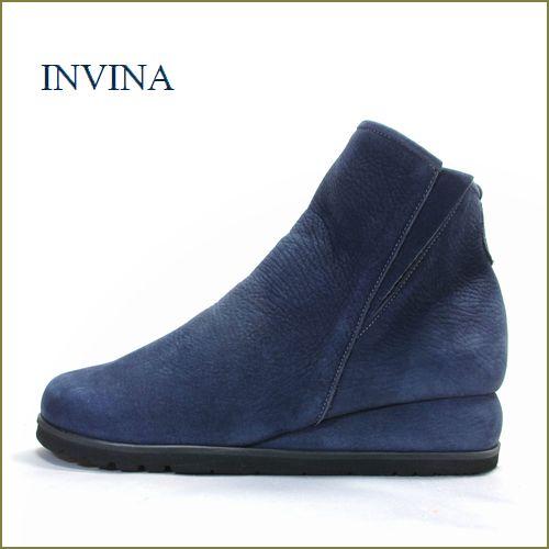 invina  インビナ靴  iv9803nv  ネイビー 【スポッ と履ける巾広4E・・撥水加工で汚れにくい・・invina  シンプルで可愛いショートブーツ】