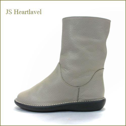 JS heartlavel  ジェイエス ハートレーベル js19362gg  グレージュ  【スポッと履けるシンプルブーツ!JS heartlavel 柔らかい雰囲気 薄色グレージュで可愛さアップ】