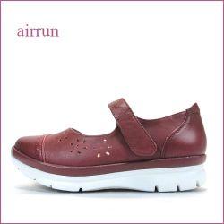 airrun エアラン ar6841wi  ワインレッド  【進化したプラット製法・・・3重構造のふわふわクッション。。 楽らくマジックベルト】