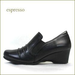 Espresso  エスプレッソ  ep1602bl   ブラック 【安心ふわふわクッション。安定のウェッジヒール エスプレッソ・・ サイドゴアスリッポン】