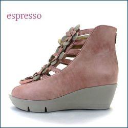 espresso エスプレッソ ep475pk サーモンピンク 【可愛いお花満開!安心ふわふわクッション。。エスプレッソ・・ ブーツ サンダル】
