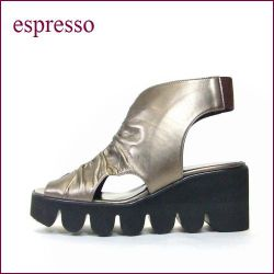espresso (エスプレッソ) es2587bz ブロンズ 【もっちりとしたソフトレザーと軽量の厚底ソール】