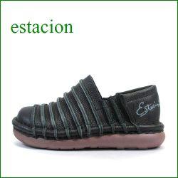 ESTACION エスタシオン et13bl ブラック 【人気上昇ブランド↑↑↑ エスタシオン・・・ とても可愛い まん丸スリッポン】