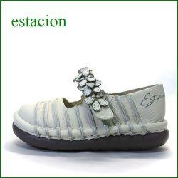 estacion  エスタシオン靴  et0381iv アイボリ— 【お花畑を散歩。。エスタシオン靴・・・・カラフル・・可愛い!花花・ ワンベルト】