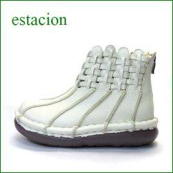 estacion エスタシオン靴  et223iv アイボリー 【可愛さ新感覚。。スッポリ包む・・エスタシオン靴・・きんちゃく・かぼちゃのアンクルブーツ】