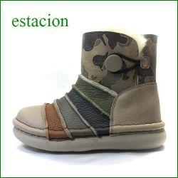 estacion エスタシオン靴 et273ok オ―ク 【ポカポカしましょ! 可愛いしましまデザイン・・エスタシオン・・ムートンブーツ】