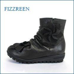 fizz reen フィズリーン fr1573bl ブラック 【かわいい ボンボンお花と・・新型ロープソール・・FIZZREEN・・ 楽らく ラウンドショート】