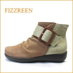 fizz reen  フィズリーン fr1706br ブラウンコンビ 【コンビカラーが注目。。バツグンの履きやすさ・・fizz reen・フワフワクッションアンクル】