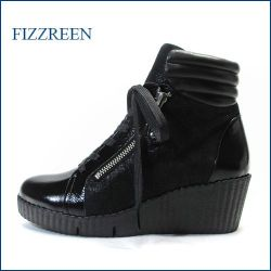 fizz reen  フィズリーン fr310ble ブラックE 【注目!新鮮パンプキンソール fizz reen ・足裏フワフワ感の・レースアップ】