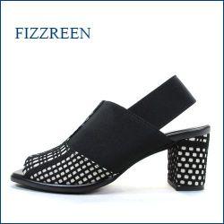 fizzreen   フィズリーン  fr3680bl  ブラック 【おしゃれ素材のコードレース・・ぴったりフィットのストレッチ。。fizzreen ヒールサンダル】