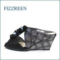 fizz reen フィズリーン fr457bl ブラック 【足をつつんで、ふわっとクッション・・FIZZREEN・・・・可愛いフリフリお花・ミュール】