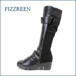 fizz reen フィズリーン fr5067bl  ブラック 【安心の履き心地。。ぴったり足にフィットする。FIZZREEN のび〜るストレッチブーツ】