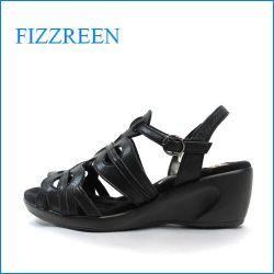 fizzreen  フィズリーン  fr5514bl  ブラック 【新開発!前すべり防止の・・こぶこぶクッション・・fizzreen ・ウェッジサンダル】