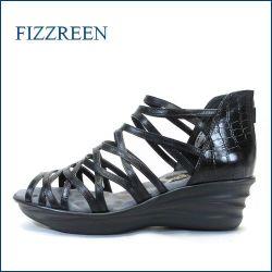 fizzreen   フィズリーン  fr6840bl  ブラック 【おしゃれラインメッシュ・・気持の良いつぶつぶクッション。。fizzreen ブ—ティーサンダル】