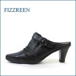 fizzreen  フィズリーン  fr7020bl  ブラック 【甲までかぶってシッカリ包む・・柔らかレザーの・・ fizzreen・すっぽりミュール】