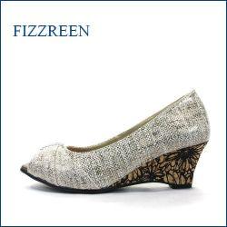 fizzreen  フィズリーン  fr7089bg  ベージュ 【日本の新技術!下町コルクの転写フラワー。。fizzreen ウェッジ・オープントゥ】