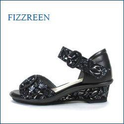 fizz reen フィズリーン fr7207bl  ブラック 【しっかり足を受け止める・・新型ウィングソール・fizzreen フラワーサンダル】