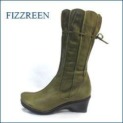 fizz reen フィズリーン fr7601ka  カーキ 【可愛さ新感覚。。スッポリ包む・・フィズリーン靴・・きんちゃく・かぼちゃのリボンブーツ】