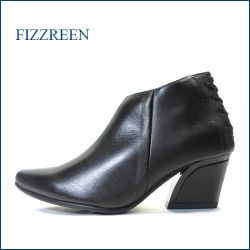 fizz reen  フィズリーン fr7802bl ブラック 【大活躍!きれいにスッキリ・・かわいい後ろレースアップ fizz reen ・アンクルブ―ティー】