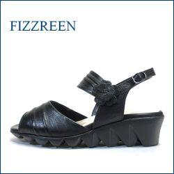 fizz reen フィズリーン  fr8140bl  ブラック 【かわいい上品小花・・足にソフトな肌触り・・FIZZREEN・・軽い160gサンダル】