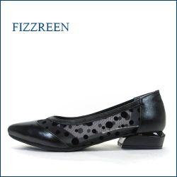 fizzreen フィズリーン fr8182bl  ブラック 【パーティーにも大活躍!可愛い水玉模様。。 FIZZREEN ローヒール パンプス】