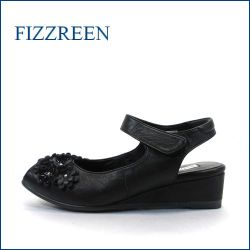 fizz reen フィズリーン  fr8766bl  ブラック 【かわいい上品な小花・・楽らくFITの・・FIZZREEN・・2重クッション・バックバンド】